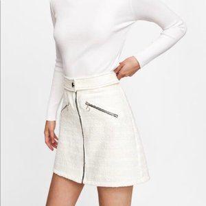 Zara Mini Skirt with Zip in Front